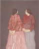 Two Sisters - RC Gorman - Signed by Artist (Rare Item)